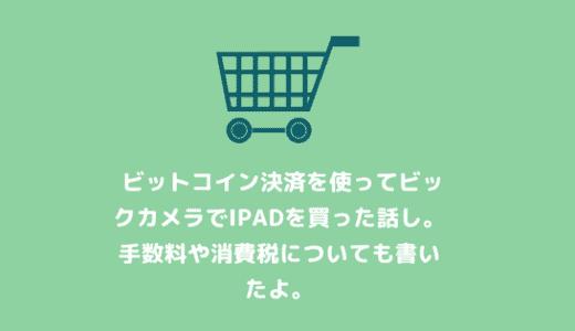 初めてビックカメラのビットコイン決済で買い物をする人のために手順をやさしく解説